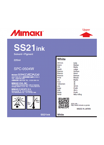 Inchiostro Mimaki SS21 White solvent cartuccia 220ml