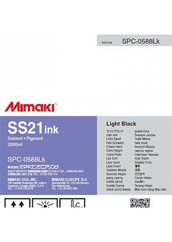 Inchiostro Mimaki SS21 Light Black solvent sacca 2lt