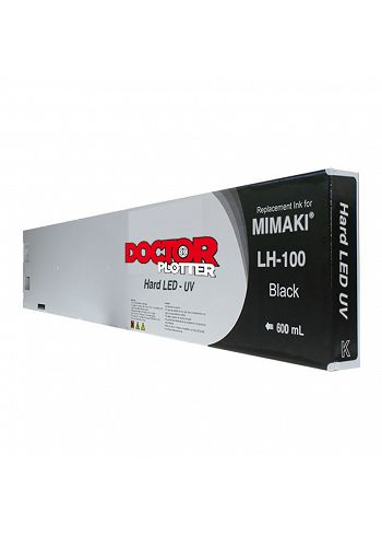 Cartuccia Doctorplotter inchiostro UV rigido LH-100 Mimaki Black 600 cc