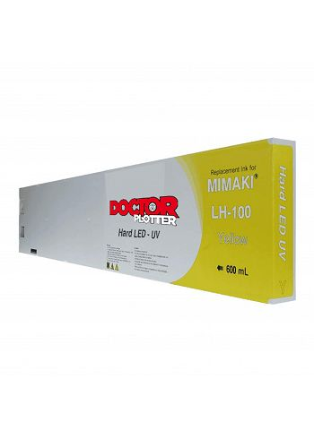 Cartuccia Doctorplotter inchiostro UV rigido LH-100 Mimaki Yellow 600 cc